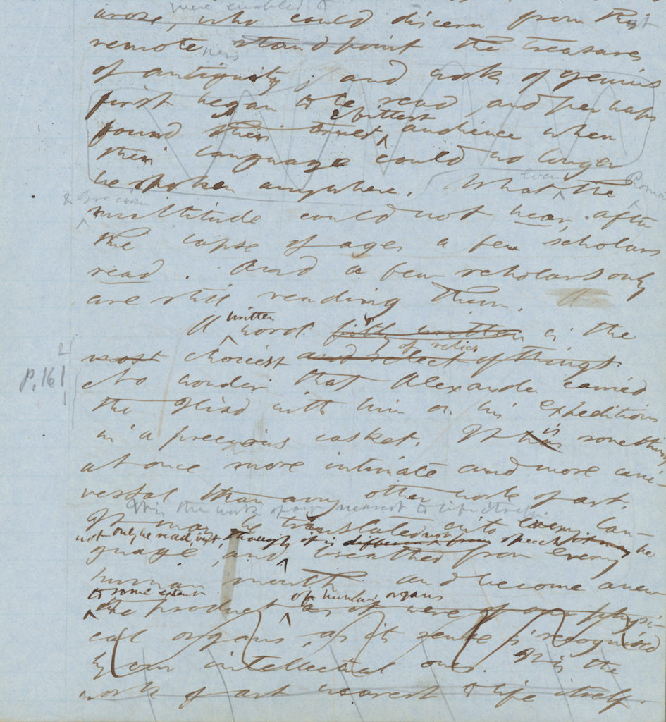 Example of Walden manuscript page